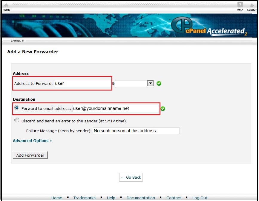 روش Forwarde کردن ایمیلها در Cpanel