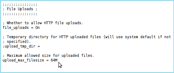 خطای exceeds the upload_max_filesize