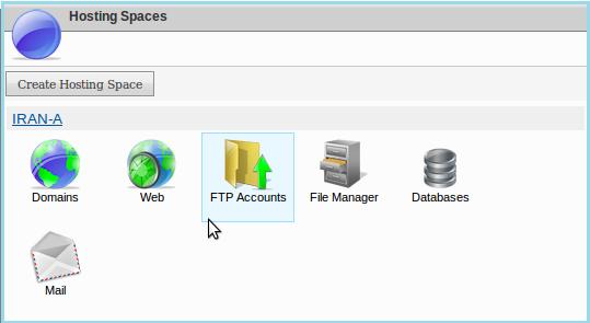 نحوه ساخت کاربر ftp در websitepanel