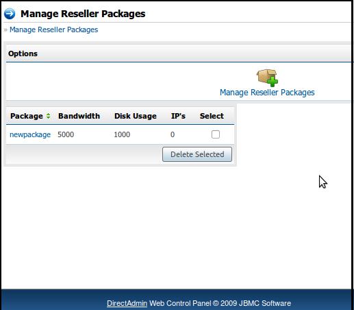 مدیریت بسته ها (Manage Reseller Packages)