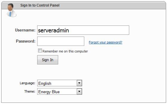 ورود به کنترل پنل websitepanel