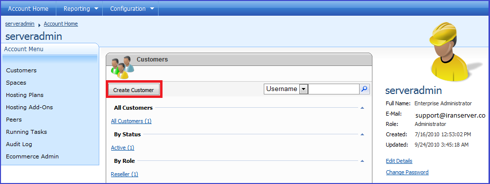 نحوه ساخت هاست جهت یک دامنه بر روی کنترل پنل websitepanel