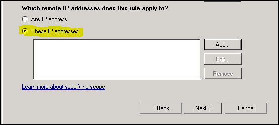 بلاک کردن IP در ویندوز۲۰۰۳